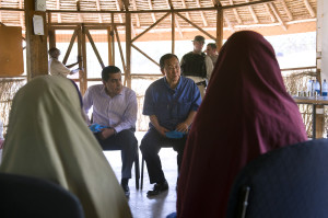 Meeting with Refugee Family