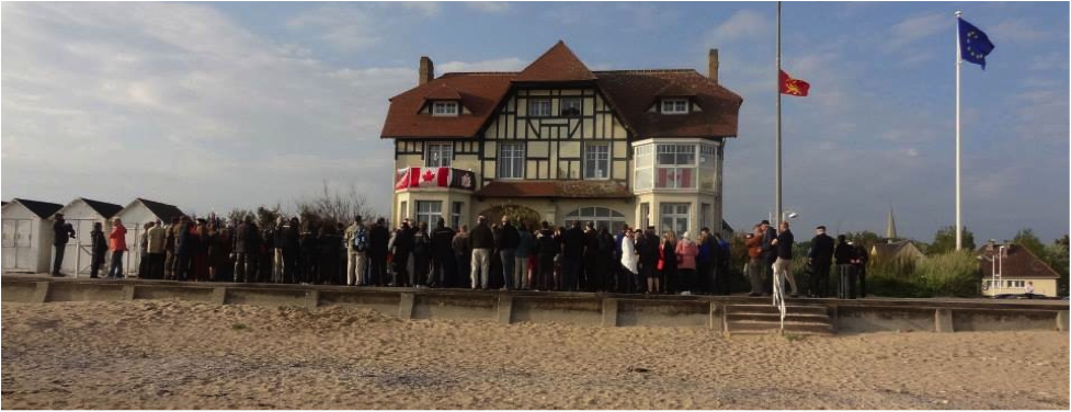 "D-Day Anniversary Ceremony at ""Canada House"" - Bernieres sur Mer"