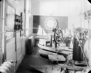 Chart Room at the Royal Navy College, c.1911.