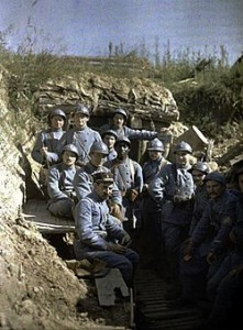 French marines in repose, c. 1916.