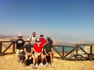 Gregg Centre Study Tour Participants atop Agira