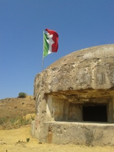 Italian pillbox in the Sicilian countryside