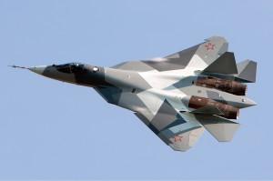 """Sukhoi PAK FA T-50 """"cinquième génération"""" combattant de la Russie."""