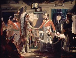 The Meeting of Brock and Tecumseh.