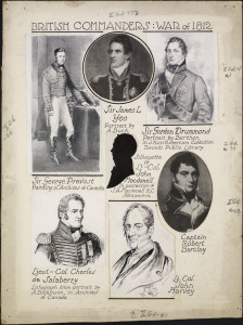 British Commanders, War of 1812.